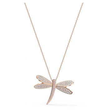 SWAROVSKI Eternal Flower Necklace, White, Rose-gold tone plated, 5524856