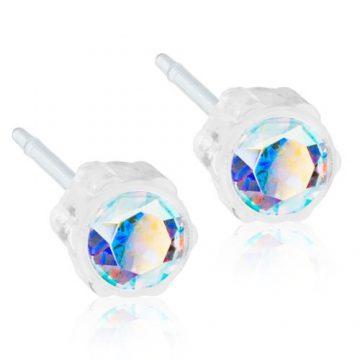 BLOMDAHL Earrings, Rainbow, 4mm, 02A