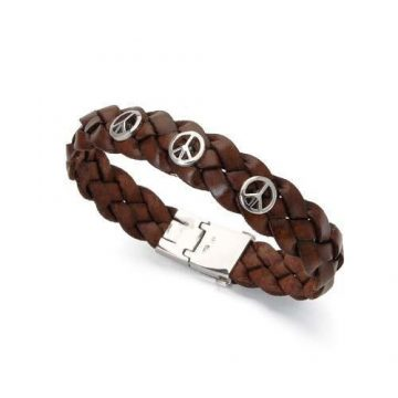 ARTEON Artificial leather bracelet with silver 925 ° elements and clasp