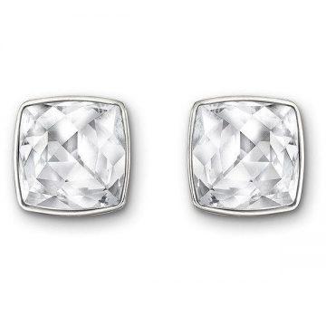 SWAROVSKI Pierced earrings Tempo, white, rhodium plated, 116950245