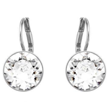SWAROVSKI Bella Mini Earrings, White, Rhodium plated, 5085608