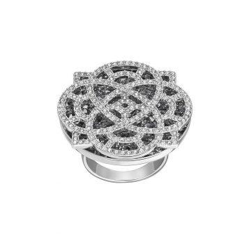SWAROVSKI Δαχτυλίδι Dove, μαύρο, επιροδιωμένα, size 55, 5146976