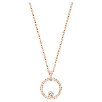 SWAROVSKI Creativity Circle Pendant, White, Rose-gold tone plated 5202446