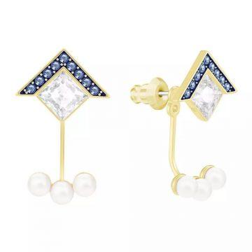 SWAROVSKI Golden Pierced Earrings Jacket 5266479