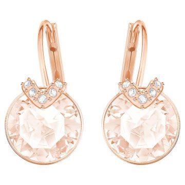 SWAROVSKI Bella V Pierced Earrings, Pink, Rose-gold tone plated, 5299318