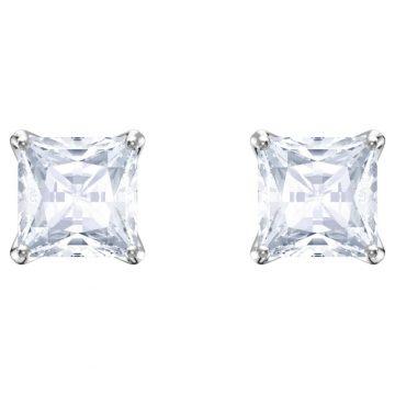 SWAROVSKI Attract Stud Pierced Earrings, White, Rhodium plated, 5430365