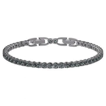 SWAROVSKI Tennis Deluxe Bracelet, Black, Ruthenium plated 5504678