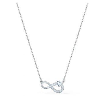 SWAROVSKI Κολιέ Infinity, λευκό, επιροδιωμένο 5520576