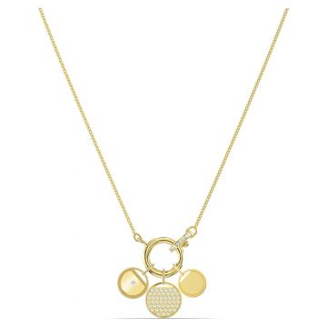 SWAROVSKI Ginger Charm Necklace, White, Gold-tone plated, 5567530