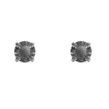 SWAROVSKI Men's Sleek Stud Pierced Earrings, Gray, Ruthenium plated, 5571555