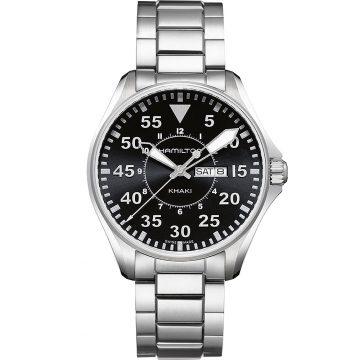 HAMILTON Khaki Aviation Pilot Day Date Quartz H64611135