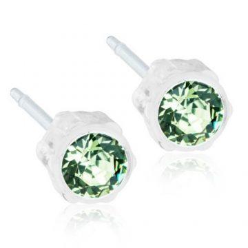 BLOMDAHL Earrings, Peridot, 4mm, 12A