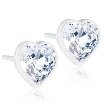 BLOMDAHL Earrings, Heart Crystal, 6mm, 181B
