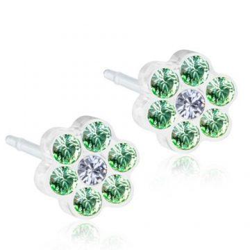 BLOMDAHL Earrings, Daisy Peridot, Crystal, 5mm, 18B