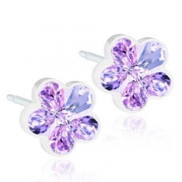 BLOMDAHL Earrings, Flower Violet, 6mm, 195B