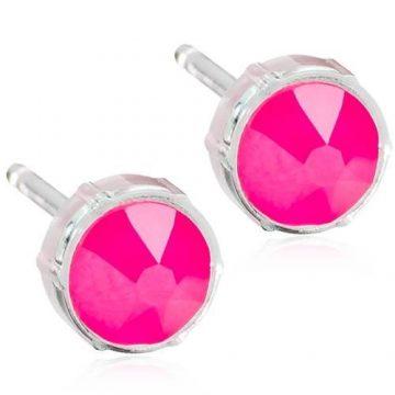 BLOMDAHL Earrings, Electric Pink, 6mm, 319B
