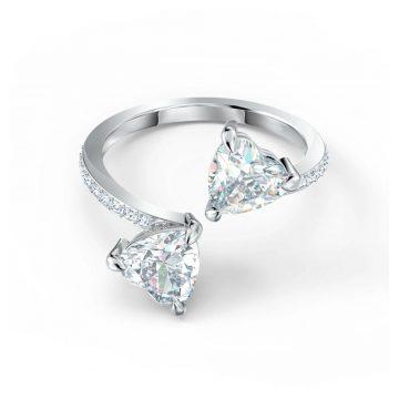 SWAROVSKI Δαχτυλίδι Attract Soul Heart, λευκό, επιροδιωμένο, size 55, 5512854