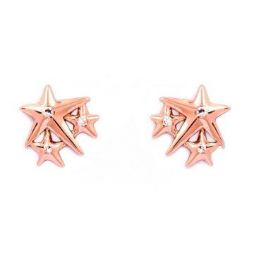 CHRYSALIS Earrings Brass metal, CHARMED LUCKY STAR, CRET0207RG