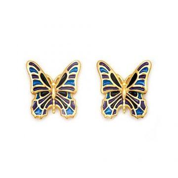 CHRYSALIS Earrings Brass metal, NATURE BUTTERFLY, CRET0301SP