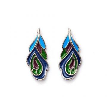CHRYSALIS Earrings Brass metal, NATURE PEACOCK, CRET0305SP