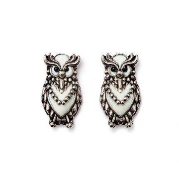 CHRYSALIS Earrings Brass metal, NATURE OWL, CRET0306SP