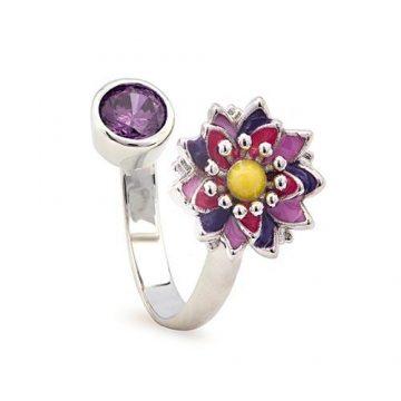 CHRYSALIS Δαχτυλίδι από Ορείχαλκo, NATURE LOTUS FLOWER, CRRT0409SP
