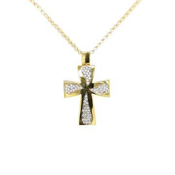 Γυναικείος σταυρός, χρυσός K14 (585°)