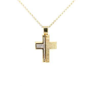 Women's cross, gold K14 (585°)