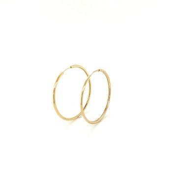 Earrings rings, gold K14 (585°)
