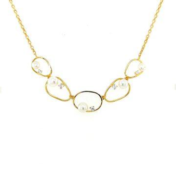 Women's necklace, gold K14 (585°)