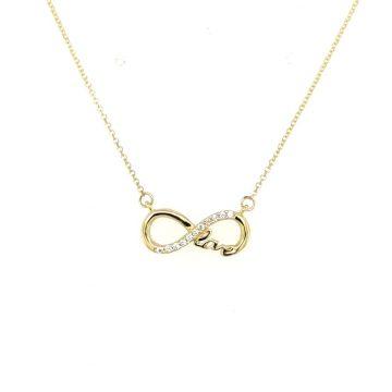 Women's necklace, gold K9 (375°), infinity