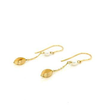 Women's earrings, gold Κ14 (585°)