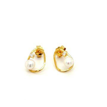 Σκουλαρίκια γυναικεία, χρυσός Κ14 (585°)