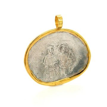 Amulet Constantine, gold Κ14 (585°) and silver (925°)