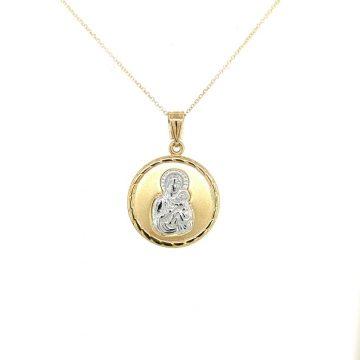 Φυλαχτό Παναγία, χρυσός K9 (375°)