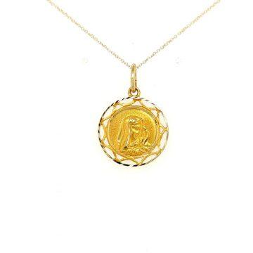 Φυλαχτό Παναγία, χρυσός Κ14 (585°)