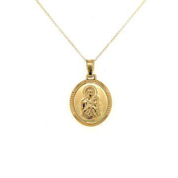 Amulet Virgin Mary, gold Κ9 (375°)