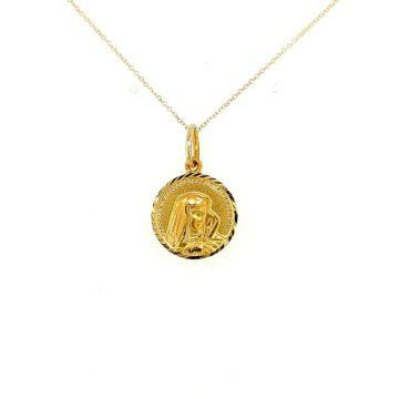 Amulet Virgin Mary, gold Κ14 (585°)