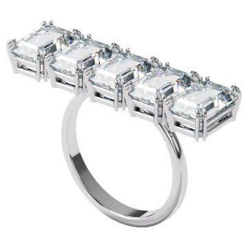 SWAROVSKI Δαχτυλίδι κοκτέιλ Millenia Λευκό, Επιμετάλλωση ροδίου, size 55, 5601593