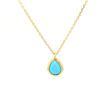 Necklace, silver 925°, gold-tone plated