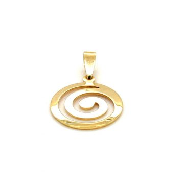 Pendant, gold K14 (585°), spiral