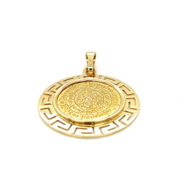 Pendant, gold K14 (585 °), Phaistos with meander