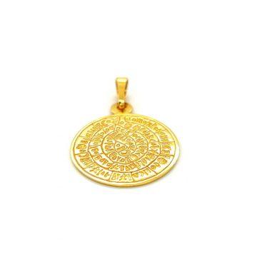 Pendant, gold K14 (585 °), Disc of Phaistos