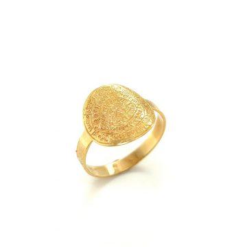 Women's ring, gold K14 (585°) Phaistos Disc