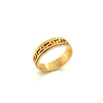 Μen's ring, gold K14 (585°) meander