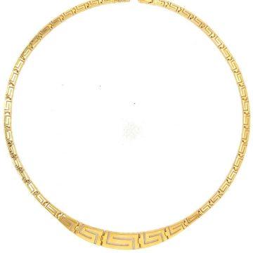 Women's necklace, gold K14 (585 °),  degrade meander
