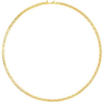 Women's necklace, gold K14 (585 °), meander