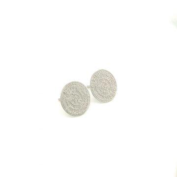 Women's earrings, gold K14 (585°), Phaistos Disc