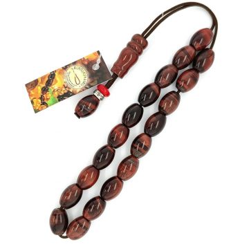 Kombolois Tiger's eye (red) – Oval bead