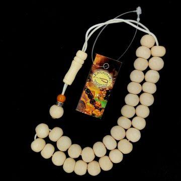 Kombolois camel bone white, 33 beads